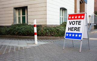 vote here sign election